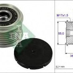 Sistem roata libera, generator NISSAN CAMIONES / FRONTIER 3.0 dCi 4WD - INA 535 0239 10 - Fulie