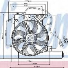Ventilator, radiator OPEL MERIVA 1.7 CDTI - NISSENS 85202 - Ventilatoare auto