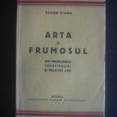 TUDOR VIANU - ARTA SI FRUMOSUL {1931} - Carte veche