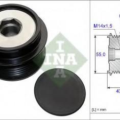 Sistem roata libera, generator TOYOTA BLADE 1.8 - INA 535 0208 10 - Fulie