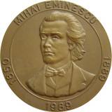 C121 MEDALIA MIHAI EMINESCU SI ION CREANGA 1989