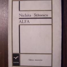 Alfa - Nichita Stanescu (prima editie, 1967) - Carte poezie