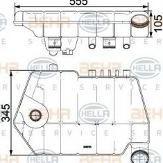 Vas de expansiune, racire DAF XF 105 FT 105.460 - HELLA 8MA 376 731-621 - Vas expansiune LuK