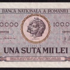 P. ROMANIA,  100000 LEI 25 IANUARIE 1947
