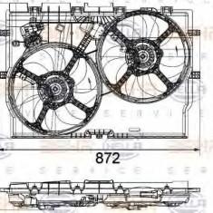 Ventilator, radiator FIAT DUCATO bus 2.3 JTD - HELLA 8EW 351 041-451 - Ventilatoare auto LuK