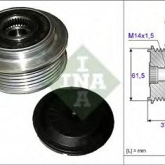 Sistem roata libera, generator FIAT CROMA 2.4 D Multijet - INA 535 0107 10 - Fulie