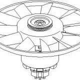 Ventilator, radiator SEAT IBIZA Mk II 1.3 i - TOPRAN 107 715