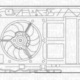 Ventilator, radiator PEUGEOT 307 1.4 HDi - MAGNETI MARELLI 069422290010 - Electroventilator auto