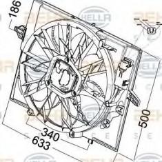 Ventilator, radiator BMW 7 limuzina 735 i, Li - HELLA 8EW 351 041-271 - Ventilatoare auto LuK