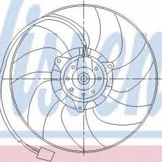 Ventilator, radiator VW LUPO 1.4 TDI - NISSENS 85551 - Ventilatoare auto
