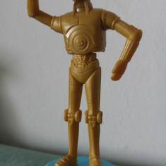 Figurina personaj robot umanoid C-3PO din desen animat/film Star Wars, 11cm - Figurina Animale