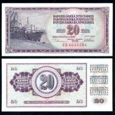 IUGOSLAVIA- 20 DINARI 1978- P 88- UNC!! - bancnota europa