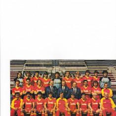 Foto fotbal - echipa AS ROMA (sezonul `83-`84 cand a jucat cu Steaua Bucuresti)