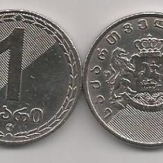 GEORGIA 1 LARI 2006 [2] XF, livrare in cartonas, Asia, Cupru-Nichel