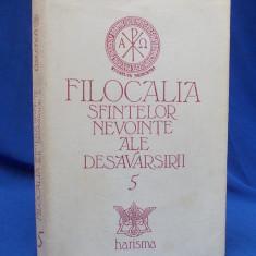 FILOCALIA SFINTELOR NEVOINTE [ VOL. 5 ] *TRAD. DUMITRU STANILOAE - HARISMA -1995 - Carti ortodoxe