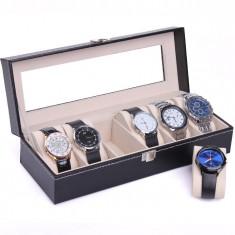 Caseta depozitare ceasuri cutie ceasuri cutie organizare ceasuri Cutie 6 ceasuri