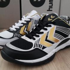 41, 44_Adidasi originali sport barbati HUMMEL_running_handbal_negru_alb - Adidasi barbati Hummel, Piele sintetica
