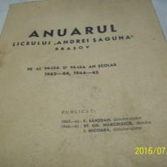 Anuarul liceului ''andrei saguna''- 1943-44, 1944-45