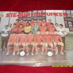 Poster Steaua si semifinalistete C.C.E 1989