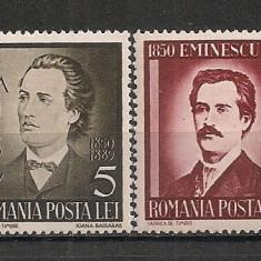 Romania.1939 50 ani moarte Mihai Eminescu PR.4 - Timbre Romania, Nestampilat
