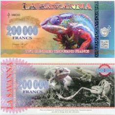LA SAVANNA- 200000 FRANCS 2016- UNC!! - bancnota africa