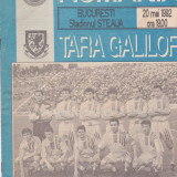 Program meci fotbal ROMANIA - TARA GALILOR 20.05.1992