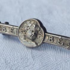 Brosa Argint Franta 1900 semnata Becker Vintage Splendida Finuta de Efect