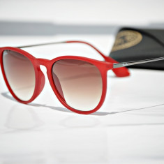 Ochelari de soare Ray Ban RB4171 Erika 898/11, Femei, Maro, Rotunzi, Plastic, Protectie UV 100%
