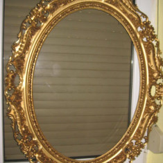 Rama mare groasa ovala stil Baroc. Material calamina sintetica plastefiata.