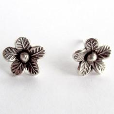 Cercei argint model floare