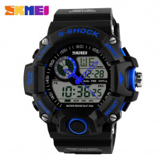Ceas SUBACVATIC SKMEI S-Shock 4 Sport Japan Alarma Calendar DUAL TIME CALITATE - Ceas barbatesc, Lux - sport, Quartz, Otel, Cauciuc