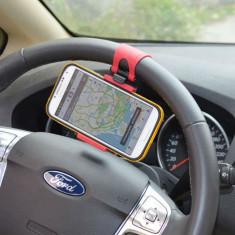 Suport universal cu prindere de volan pentru telefon, smartphone, GPS, PDA - Suport auto
