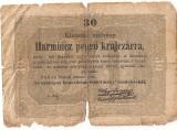Ungaria 30 PENGO KRAJCZAR 1849 U