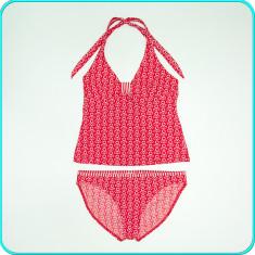 FRUMOS → Costum de baie / inot, doua piese, calitate → fete | 13-14 ani | 164 cm, Marime: Alta, Culoare: Rosu