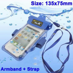 Husa telefon impermeabila Armband, Samsung Galaxy S5, Portocaliu
