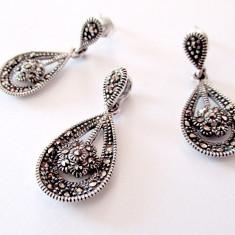 Set din argint cu marcasite - Set bijuterii argint