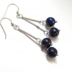 Cercei argint cu Lapis Lazuli