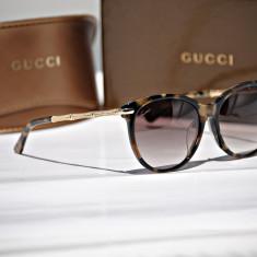 Ochelari de soare de dama Gucci GG 3777 NFS 6UDHD - Ochelari de soare Gucci, Femei, Maro, Ochi de pisica, Plastic, Protectie UV 100%