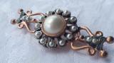 BROSA argint aurit BIEDERMEIER ornata SPLENDID 1850 AUSTRIA Viena RARA superba
