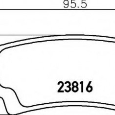 Placute frana ATE TOYOTA COROLLA limuzina 2.0 D-4D - HELLA 8DB 355 010-841