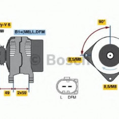Generator / Alternator SKODA OCTAVIA 1.6 - BOSCH 0 986 042 600 - Alternator auto