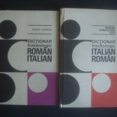 EUGEN COSTESCU - DICTIONAR FRAZEOLOGIC ROMAN ITALIAN SI ITALIAN ROMAN 2 volume Altele