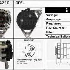Generator / Alternator OPEL ASTRA G hatchback 1.2 16V - DELCO REMY DRB4210 - Alternator auto