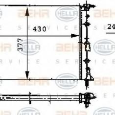 Radiator, racire motor RENAULT KANGOO 1.2 - HELLA 8MK 376 717-671 - Radiator racire LuK