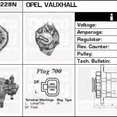 Generator / Alternator OPEL MERIVA 1.7 DTI - DELCO REMY DRA4228N - Alternator auto