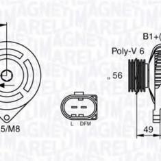 Generator / Alternator VW SHARAN 1.9 TDI - MAGNETI MARELLI 063533250010 - Alternator auto