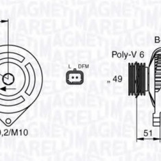 Generator / Alternator PEUGEOT 206 CC 1.6 16V - MAGNETI MARELLI 063377301010 - Alternator auto