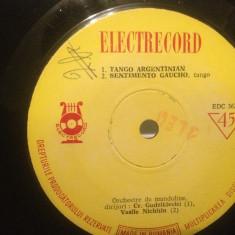 TANGO/PASO-DOBLE - MUZICA DANS (EDC 362/ELECTRECORD) - VINIL/stare FOARTE BUNA - Muzica Latino
