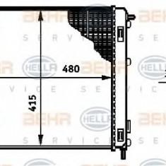Radiator, racire motor RENAULT KANGOO 1.4 - HELLA 8MK 376 719-681 - Radiator racire LuK