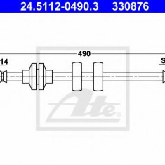 Furtun frana FIAT DOBLO Cargo 1.3 JTD 16V Multijet - ATE 24.5112-0490.3, REINZ